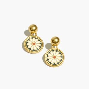 Madewell Daisy Delight Enamel Drop Stud Earrings